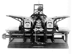 Fredrich Koenig's steam powered printing press, 1814.
