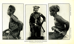 A 1926 photograph of Bagobo (Manobo) warriors