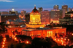 Winnipeg is home to the Manitoba Legislative Building, which houses the Legislative Assembly of Manitoba.