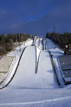 The ski jumping hill Lysgårdsbakken was the venue of the opening and closing ceremonies