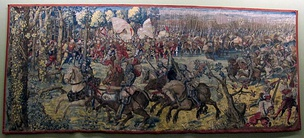 Detail of a tapestry depicting the Battle of Pavia, woven from a cartoon by Bernard van Orley (c. 1531)