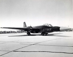B-57E with nose graft from Bomarc, for testing of the missile
