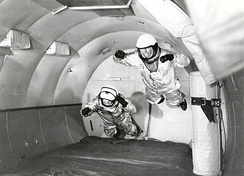 Mercury astronaut training in 1959