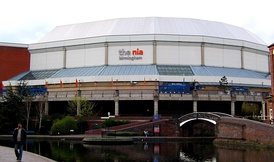 National Indoor Arena, Birmingham – host venue of the 1998 contest. (pictured in 2005 before renovation)