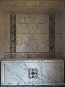 Crypt of Norma Shearer in the Great Mausoleum, Forest Lawn Glendale