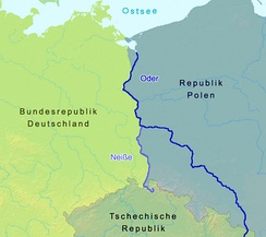 The Oder and Neisse rivers