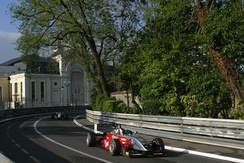 Brazilian driver Átila Abreu drives the picturesque Pau Circuit in 2005