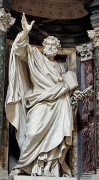 Statue of St. Peter in the Archbasilica of Saint John Lateran by Pierre-Étienne Monnot