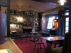 The interior of a typical British pub