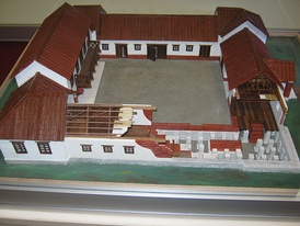 Roman Villa Rustica Model. Remnants of these types of villas can be found in the vicinity of Valjevo, Serbia