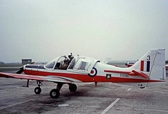 Manchester University Air Squadron Scottish Aviation Bulldog at RAF Woodvale in 1983