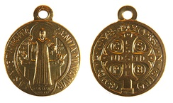 The two sides of a Saint Benedict Medal