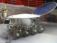 Luna 2, the first human-made object to reach the surface of the Moon (left) and Soviet Moon rover Lunokhod 1