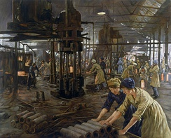 The Munitions Girls (1918), oil painting by Stanhope Forbes