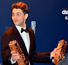 Dolan with his César Awards at the 42nd ceremony in 2017