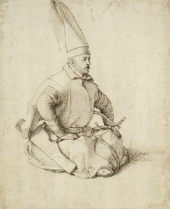A 15th-century Janissary, drawing by Gentile Bellini, who also painted the renowned portrait of Sultan Mehmed II