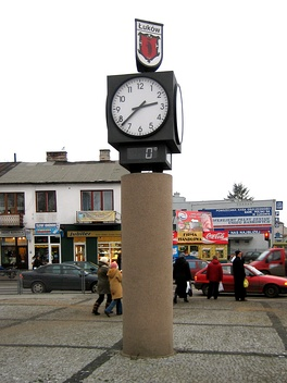 Town-clock at Freedom and Solidarity Square, Łuków
