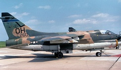 166th TFS A-7D 72–260 about 1979