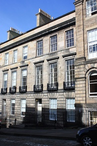 Chalmers' townhouse on the Moray Estate, 3 Forres Street, Edinburgh