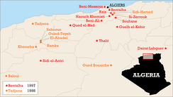 Massacres of over 50 people in 1997–1998. The Armed Islamic Group (GIA) claimed responsibility for many of them.
