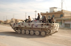 An Iraqi Army BMP-1 on the move.