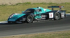 Michael Bartels and Andrea Bertolini won the GT1 title at the wheel of a Maserati MC12.