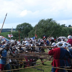 Re-enactment at the Tewkesbury Medieval Festival