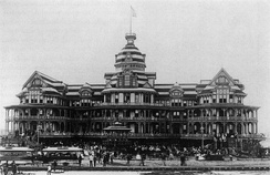 The Beach Hotel catered to vacationers until a fire in 1898.