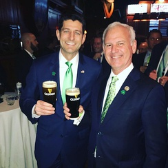 Bradley Byrne with Paul Ryan in 2018 on St. Patrick's Day