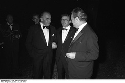Willy Brandt with French president Georges Pompidou in Cologne, 3 July 1972.