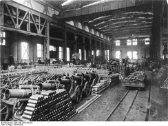 German munitions factory, 1916