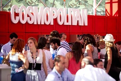 Cosmopolitan stand at The Brandery fashion show (Barcelona, 2010)