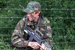 A cadet with the L98A1 Cadet General Purpose Rifle