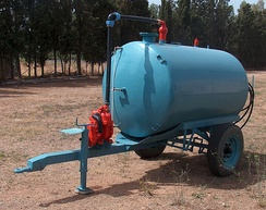 A liquid manure spreader is used to increase agricultural productivity.