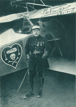 'The Knight of Death', Nungesser with his Nieuport 17