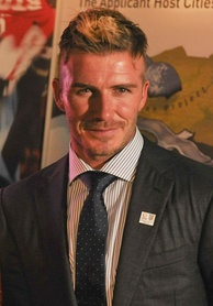 Beckham in Cape Town, South Africa, December 2009