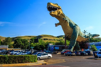 "The ""World's Largest Dinosaur"", a roadside attraction in Canada"