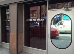 Electric Lady Studios (entrance pictured) in New York City, where part of the album was recorded