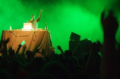 Flying Lotus performing at the 2012 Bonnaroo Music Festival