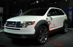 Ford Edge hydrogen fuel cell-electric plug-in hybrid concept