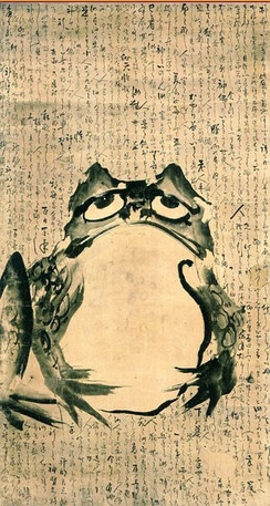 Frog and Mouse by Getsuju, a Japanese artist of the Edo period