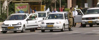 A moment of silence as the siren is sounded in Tel Aviv, Yom Hazikaron 2007