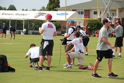 Hard Knocks film crew at Atlanta Falcons training camp, 2014