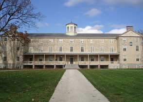 Founders Hall, completed in 1833, sits at the center of the upper campus and serves as an icon for the college.