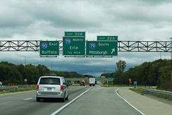 I-90 at interchange with I-79