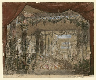 Set design for the throne room (1863)