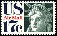 Head of Liberty, U.S. airmail stamp, 1971 issue