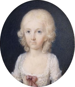 Maria Theresa of Naples as a young child