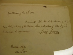 Marshall's Chief Justice nomination