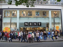 A branch of Next showing the old logos on Oxford Street in London in 2005.